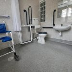 Fully equipped wetroom.