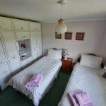 Spacious twin room.